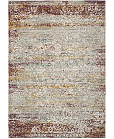 """Aria Red and Creme 5'1"""" x 7'6"""" Area Rug"""