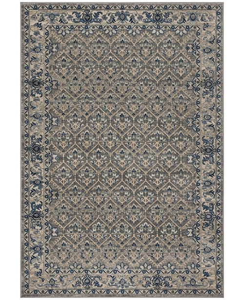 "Safavieh Brentwood Light Gray and Blue 5'3"" x 7'6"" Area Rug"