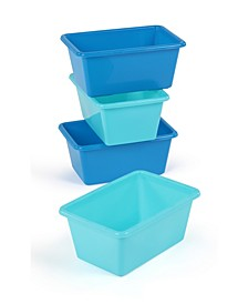 Plastic Bin Pack of 4, Standard