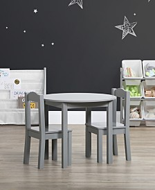 Kids Wood Round Table and 2 Chairs
