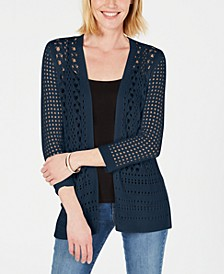 Open-Stitch Cardigan Completer Sweater, Created for Macy's