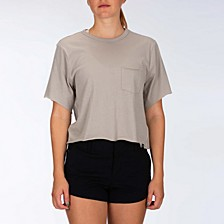Juniors' Cotton Cropped T-Shirt