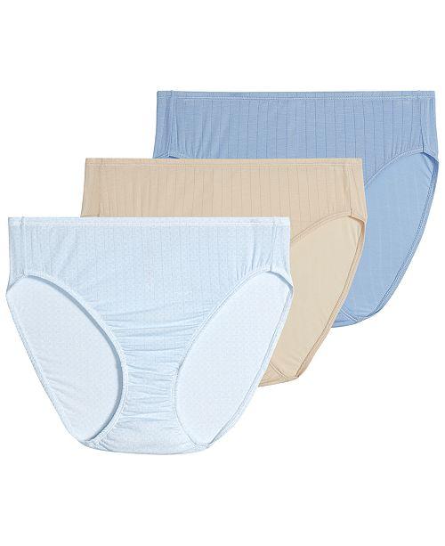 Jockey Women's 3-Pk. Supersoft Breathe Drop-Needle Knit French-Cut Brief Underwear 2371