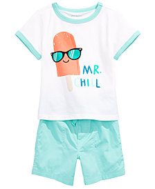 First Impressions Baby Boys Graphic-Print T-Shirt & Cotton Shorts, Created for Macy's