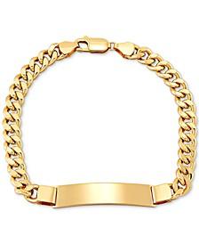 Men's Curb Link ID Bracelet in 10k Gold