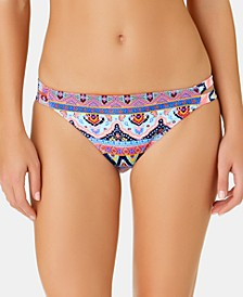 Juniors' Far Away Vacay Printed Tab Side Hipster Bottoms, Created for Macy's