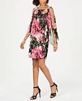 af16f7b9586 MSK Embellished Floral-Print Sheath Dress