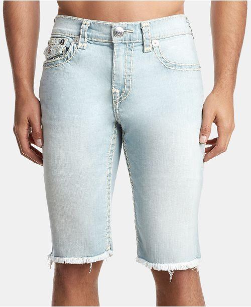 True Religion Men's Ricky Flap Denim Shorts
