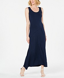 Sleeveless Asymmetrical-Seam Maxi Dress, Created for Macy's