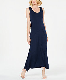 Style & Co Sleeveless Asymmetrical-Seam Maxi Dress, Created for Macy's