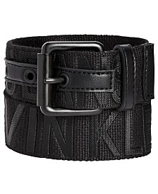Calvin Klein Big Boys Logo Embossed Belt