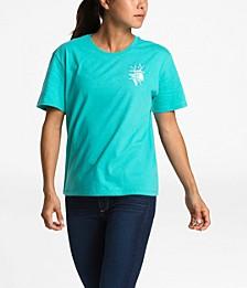 Cotton Floral-Print Active T-Shirt