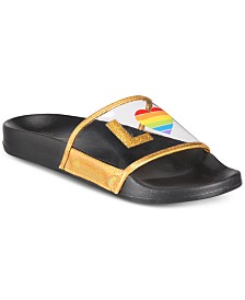 I.N.C. Rainbow Love Slide Slipper, Created for Macy's