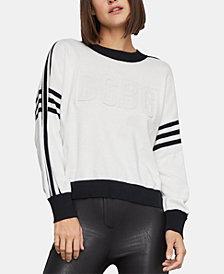 BCBGMAXAZRIA Cotton Varsity Sweater