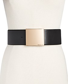 Michael Kors Wide Leather Belt