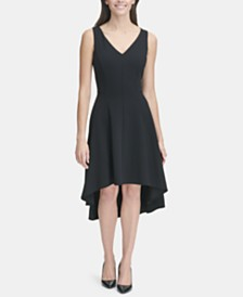 Tommy Hilfiger High-Low Fit & Flare Dress