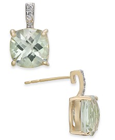 Mint Quartz (5-3/4 ct. t.w.) & Diamond Accent Drop Earrings in 14k Gold