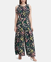 7cdcfe7b3a485 Tommy Hilfiger Printed Ruffled Wide-Leg Jumpsuit