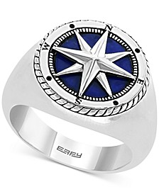 EFFY® Men's Lapis Lazuli Compass Ring in Sterling Silver