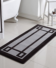 "Greek Key Memory Foam 24"" x 60"" Bath Runner"