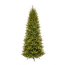 Puleo International 4.5 ft. Pre-lit Slim Franklin Fir Artificial Christmas Tree 150 UL listed Clear Lights