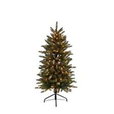 Puleo International 4.5 ft. Pre-lit Franklin Fir Pencil Artificial Christmas Tree 150 UL listed Clear Lights