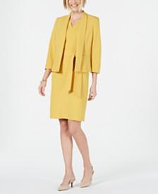 Kasper Shawl-Lapel Blazer & Sheath Dress