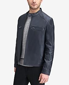 Men's Leather Racer Jacket
