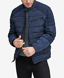Men's Faux-Down Moto Jacket