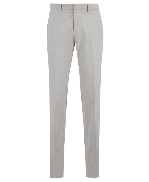 Hugo Boss BOSS Men's Gido Melange Slim-Fit Trousers
