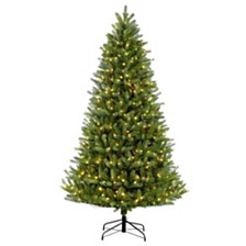 Puleo International 9 ft Pre-Lit Green Mountain Fir Artificial Christmas Tree with 1000 UL-Listed Clear Lights