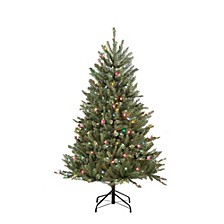 International 4.5 ft.Pre-Lit Franklin Fir Artificial Christmas Tree with 250 Multi-Colored UL listed Lights