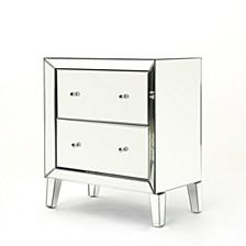 Jeremye Mirrored 2 Drawer Cabinet
