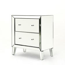 Jeremye Mirrored 2 Drawer Cabinet, Quick Ship