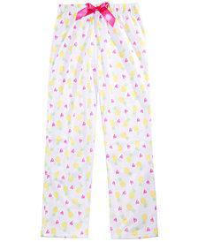 Max & Olivia Little & Big Girls Pineapple-Print Pajama Pants, Created for Macy's