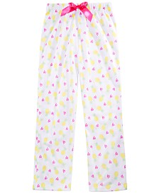 Max & Olivia Little & Big Girls Pineapple-Print Pajama Pants, Created for Macy's