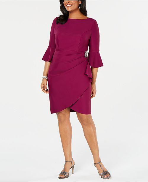 35a100e9f1eb Alex Evenings Plus Size Embellished Sheath Dress & Reviews - Dresses ...