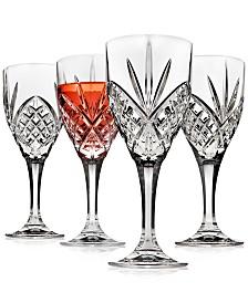 Godinger Dublin Acrylic Set of 4 Goblets