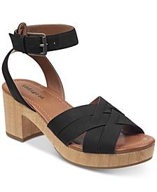 Darsel Wood-Platform Dress Sandals