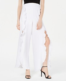 XOXO Juniors' Ruffle-Front Wide-Leg Pants