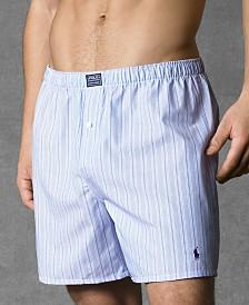 Polo Ralph Lauren Men's Underwear, Woven Boxer