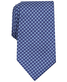 Tasso Elba Men's Medallion Print Tie, Created for Macy's