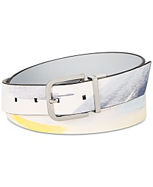Calvin Klein Reversible Printed Leather Belt