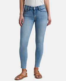 Lucky Brand Frayed-Hem Skinny Jeans