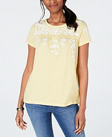 Cotton Floral-Print T-Shirt, Created for Macy's