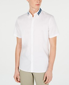 Calvin Klein Men's Stripe-Collar Shirt