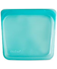Stasher Stasherbag Reusable Sandwich Bag, Aqua