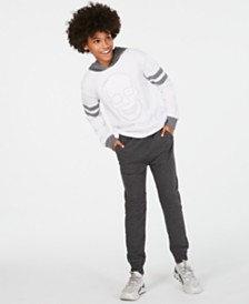 Epic Threads Big Boys Skull Hoodie & Knit Moto Joggers, Created for Macy's