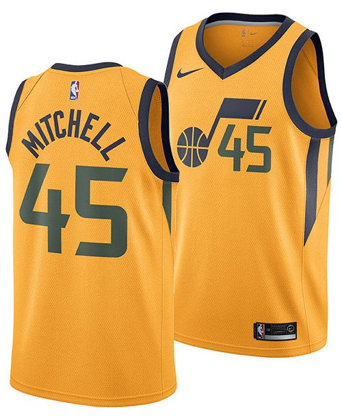 sports shoes 6c03d dbf65 Men's Donovan Mitchell Utah Jazz Statement Swingman Jersey