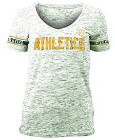5th & Ocean Women's Oakland Athletics Space Dye T-Shirt